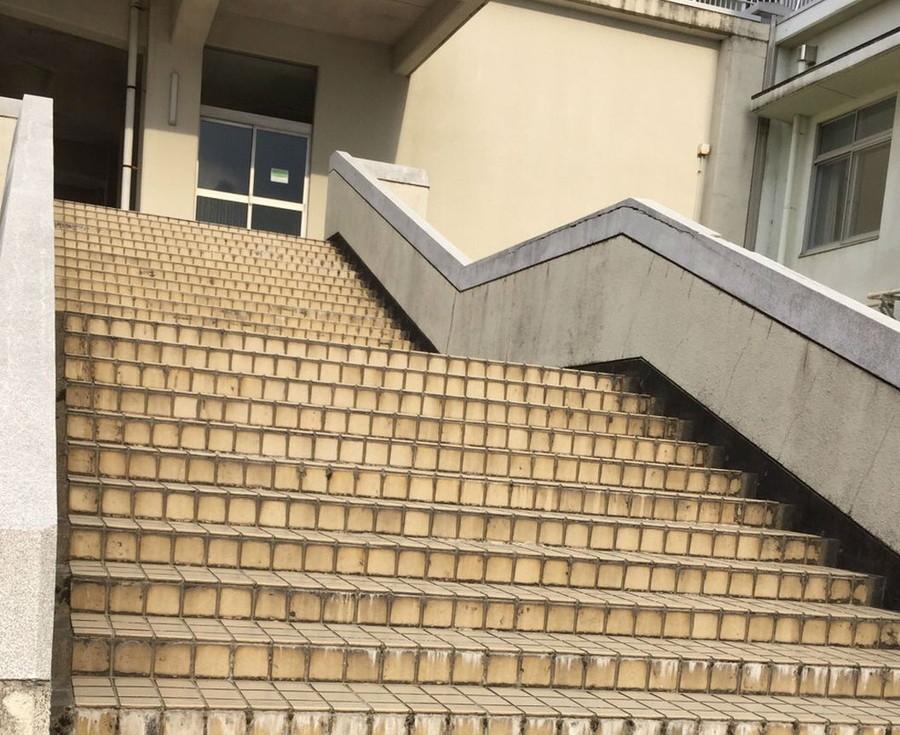 母校の階段